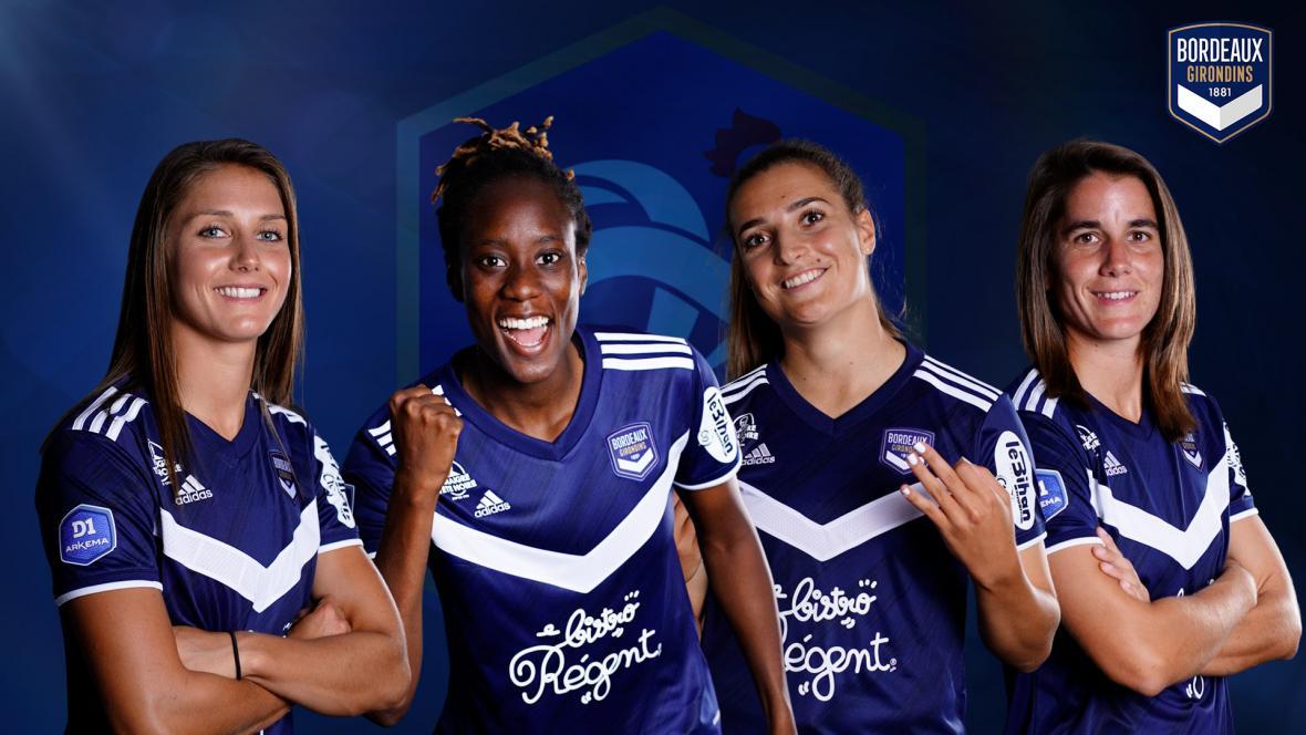 Sélection en Equipe de France d'Eve Perisset, Ouleymata Sarr, Julie Thibaud et Charlotte Bilbault