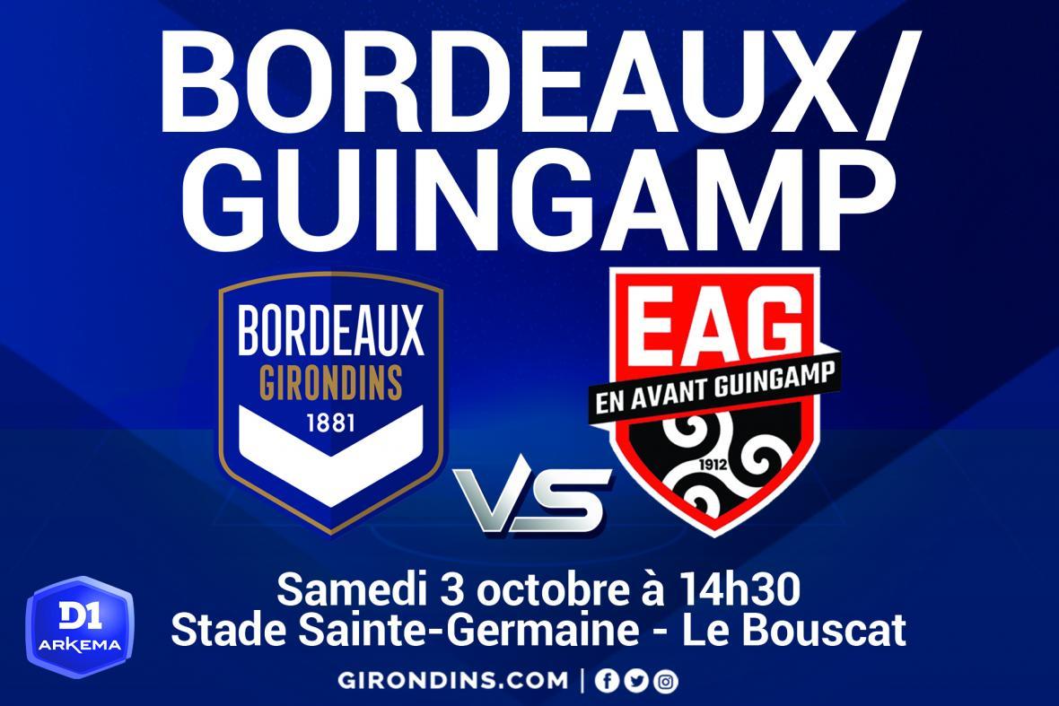 Bordeaux/Guingamp (D1 Arkema)