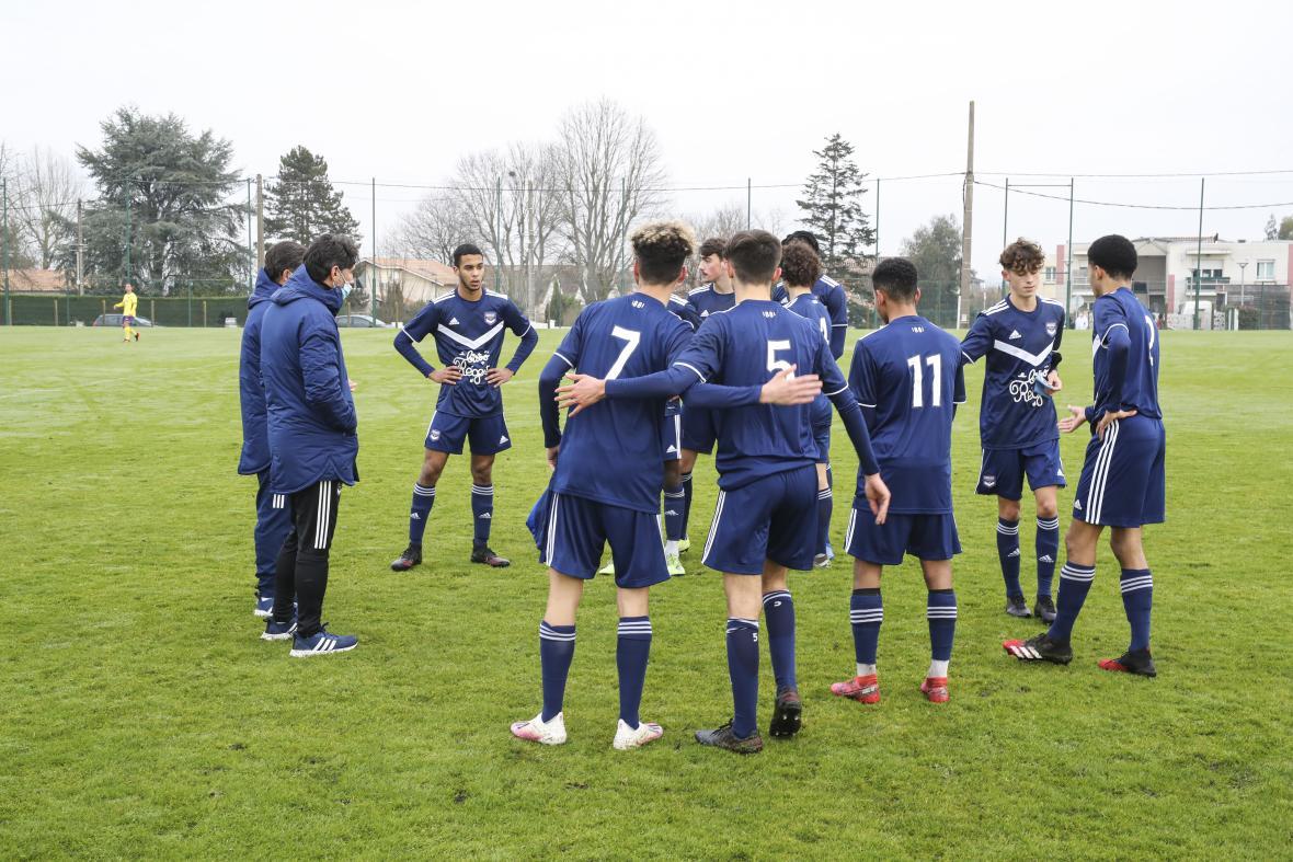 Concentration du groupe avant match