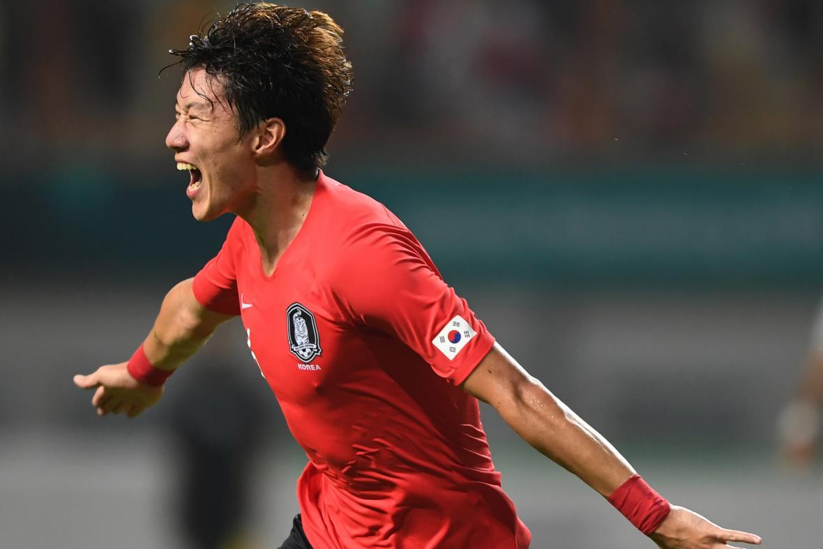 Hwang Ui-Jo sous le maillot de la sélection coréenne