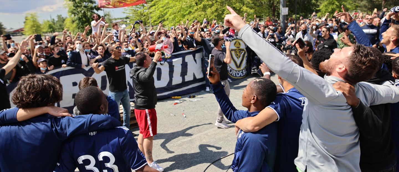 Le soutien des supporters lors de Bordeaux-Rennes