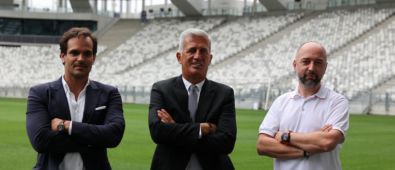 Présentation Vladimir Petkovic avec Admar Lopes et Gérard Lopez