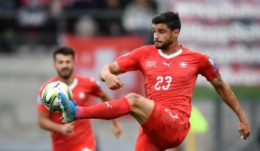 Loris Benito sous le maillot de la sélection suisse