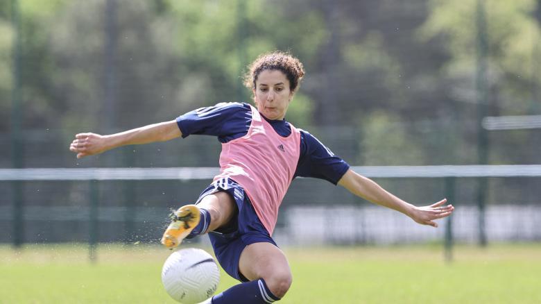 L'entraînement des féminines du 5 mai