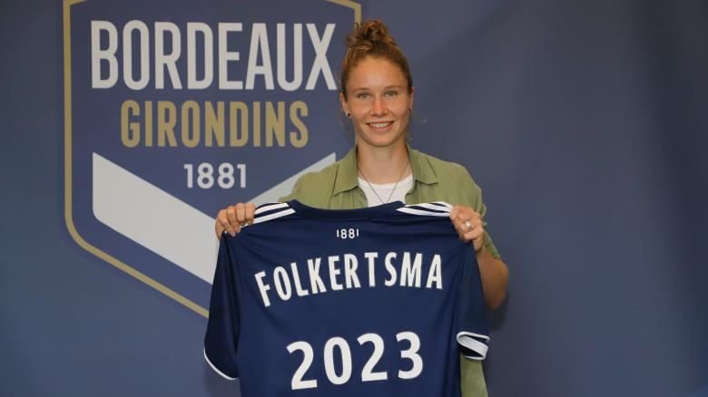 Sisca Folkertsma signe aux Girondins