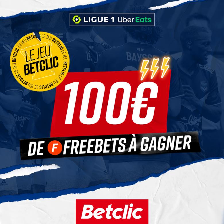 100€ de freebets à gagner avec Betclic