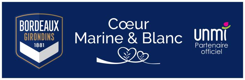Logo Coeur Marine et Blanc avec l'UNMI