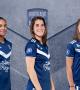 Estelle Cascarino, Charlotte Bilbault et Eve Perisset en Equipe de France